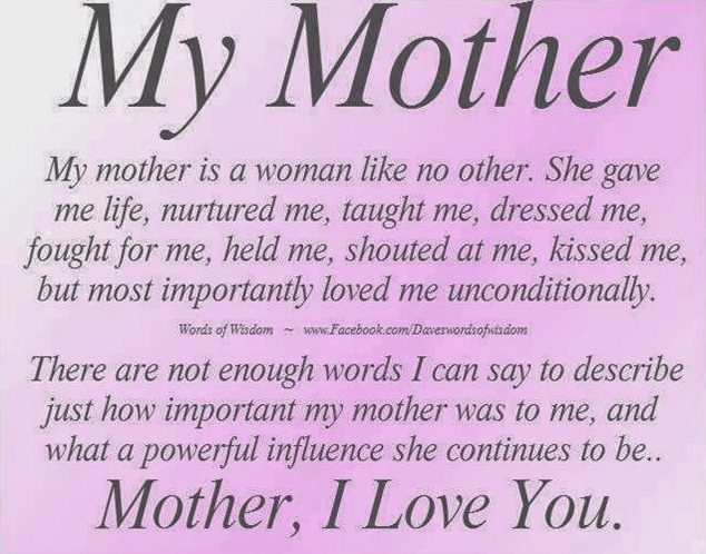 Short Mothers Day Quotes From Daughter 2018