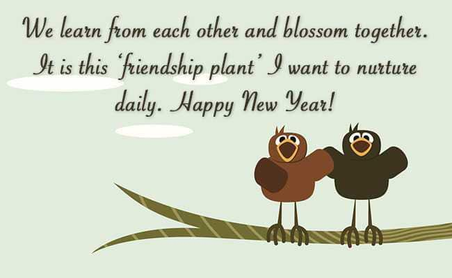 happy new year wishes for friends