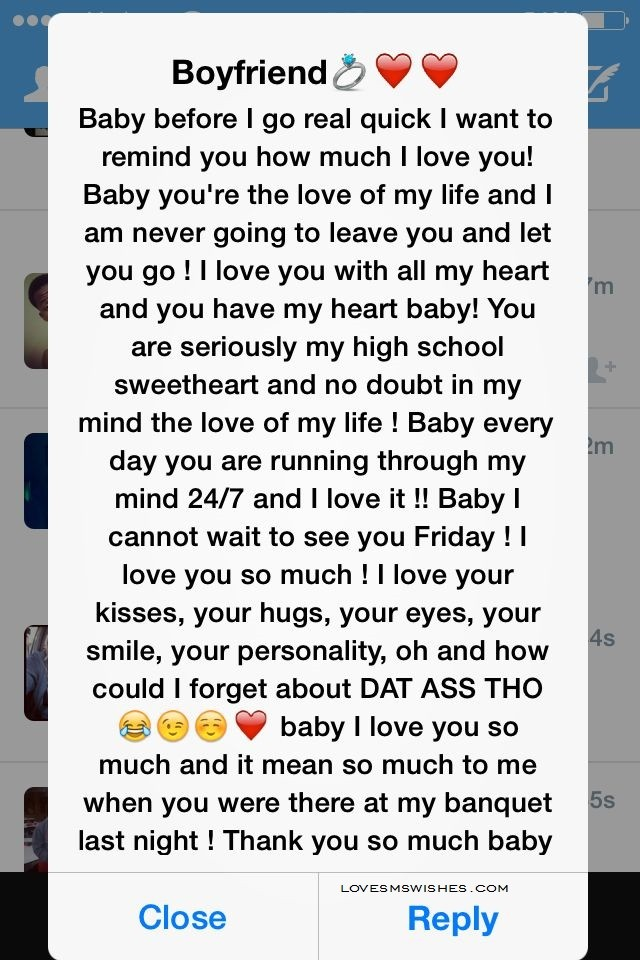 Cute Paragraphs to Send to Your Boyfriend